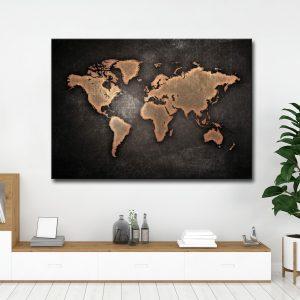 Πίνακας σε καμβά Χάρτης 1