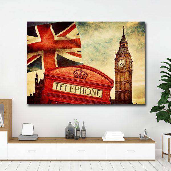 LONDON 1 ΕΤΟΙΜΟΣ ΚΑΜΒΑΣ ΔΙΑΣΤΑΣΕΩΝ 100cm x 70cm ΤΕΛΑΡΩΜΕΝΟΣ ΜΕ ΚΑΝΟΝΙΚΟ ΤΕΛΑΡΟ ΜΕ ΦΙΝΙΡΙΣΜΑ ΠΛΑΙΝΗΣ ΕΚΤΥΠΩΣΗΣ