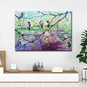 Πίνακας σε καμβά Πουλιά