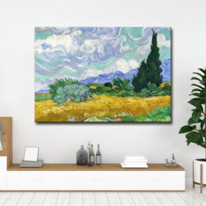 VAN GOGH - A Wheatfield with Cypresses