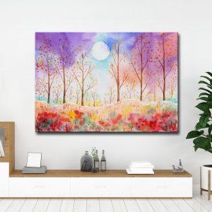 Πίνακας σε καμβά πολύχρωμα δέντρα