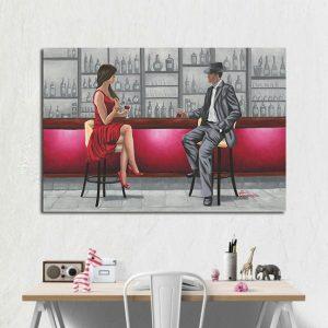 Αφίσα δωματίου Ζευγάρι στο Μπαρ