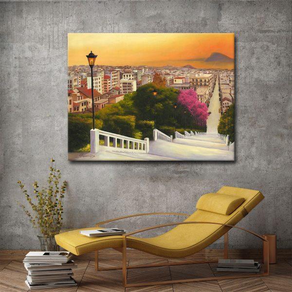 Πίνακας ζωγραφικής Πάτρα Σκάλες