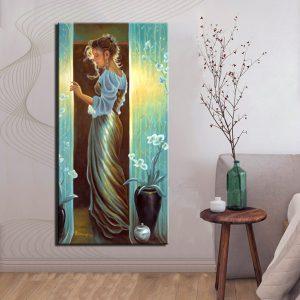 Χειροποίητος Πίνακας Γυναίκα Προφίλ