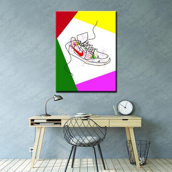 Μοντέρνος Πίνακας Line art shoes 2