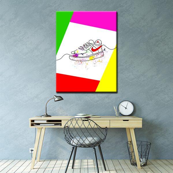 Μοντέρνος Πίνακας Line art shoes 3