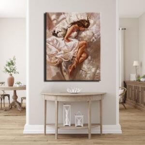 Πίνακας - Γυναίκα στο Κρεβάτι