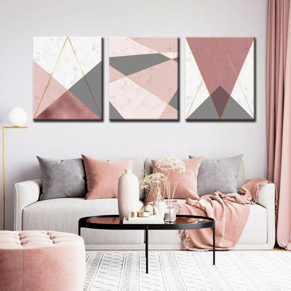 Τρίπτυχο geometric shapes