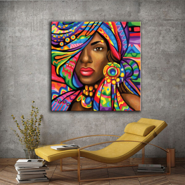Πίνακας σε καμβά African W