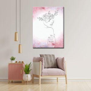 Πίνακας Line art Woman F