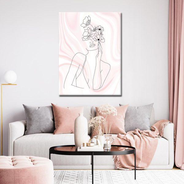 Πίνακας Line art Woman F2