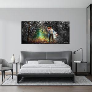 Πίνακας Ζευγάρι στο Δάσος. Πίνακας σε καμβά με τελάρο από ξύλο οξιάς και φινίρισμα πλαϊνής εκτύπωσης. Ο πίνακας είναι έτοιμος για ανάρτηση στον τοίχο σας. Διαθέσιμος σε διάφορα μεγέθη