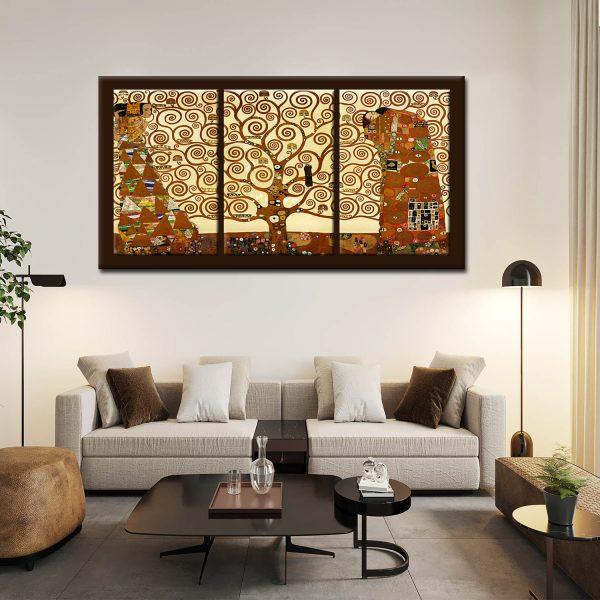 Τριπτυχο με πλάτη καμβά - Klimt