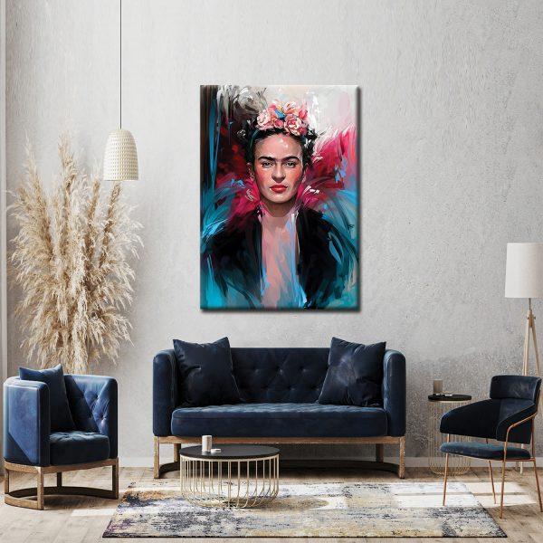 Πίνακας σε καμβά Frida K 2, με τελάρο διαθέσιμος σε διάφορα μεγέθη. Μοντέρνος πίνακας ιδανικός για σαλόνι η επαγγελματικό χώρο.