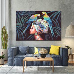 Πίνακας σε καμβά Tropical Woman